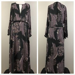 Free People Out of the Woods Drop Waist Maxi Sz XS